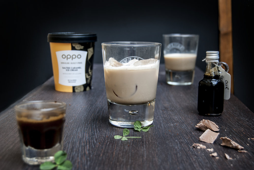 Irish coffee with Salted Caramel Oppo