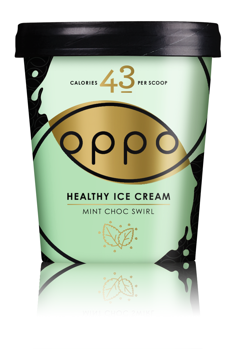 Oppo Mint Choc Swirl with a hint of Spirulina