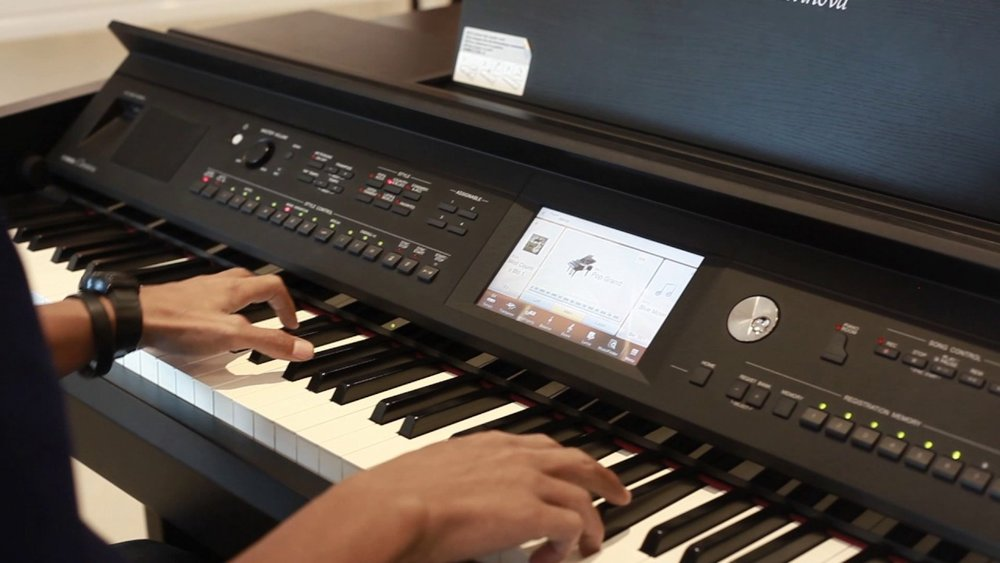 Our pianos combine the latest in technology with the professional feel, key-weight, and sound quality of a concert grand