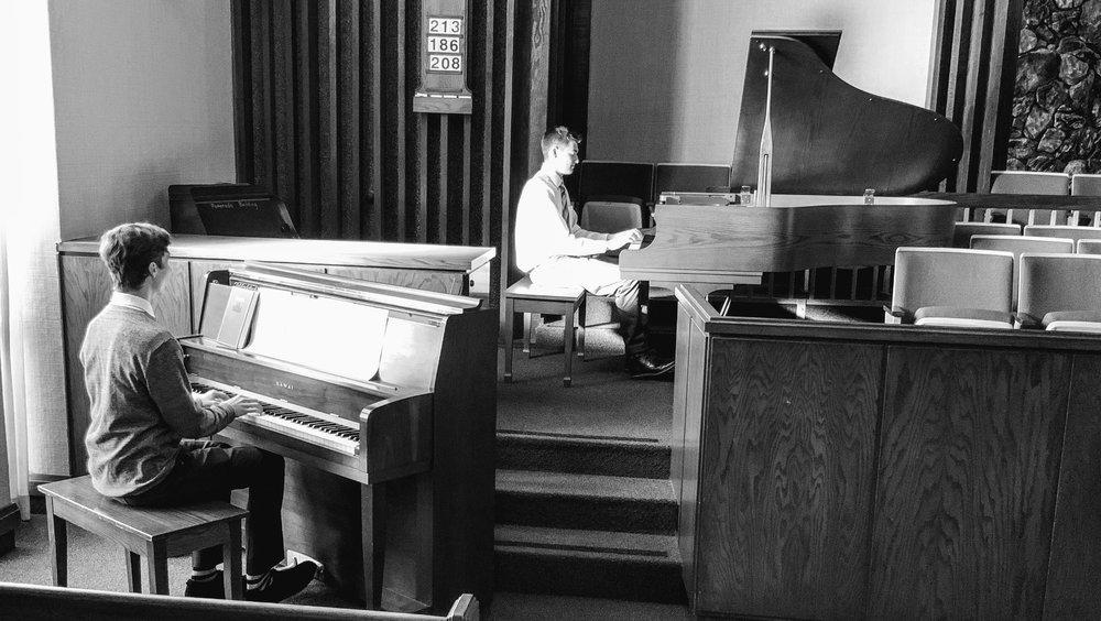 Camden and Logan Arrange a Three-Piano Church Performance Piece!