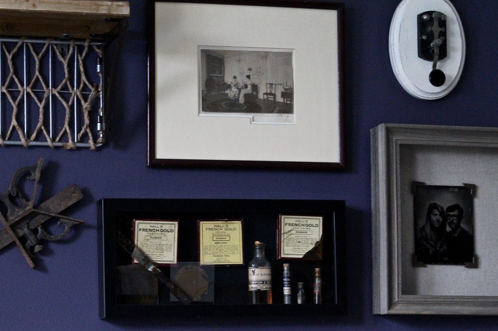 We were lucky enough to be at the same event in Mississippi as a Tin Type photographer. We had him take our photo to fill in with our wall full of family memorabilia. It fits in so well people would don't know us might assume it's just another relic from the past.