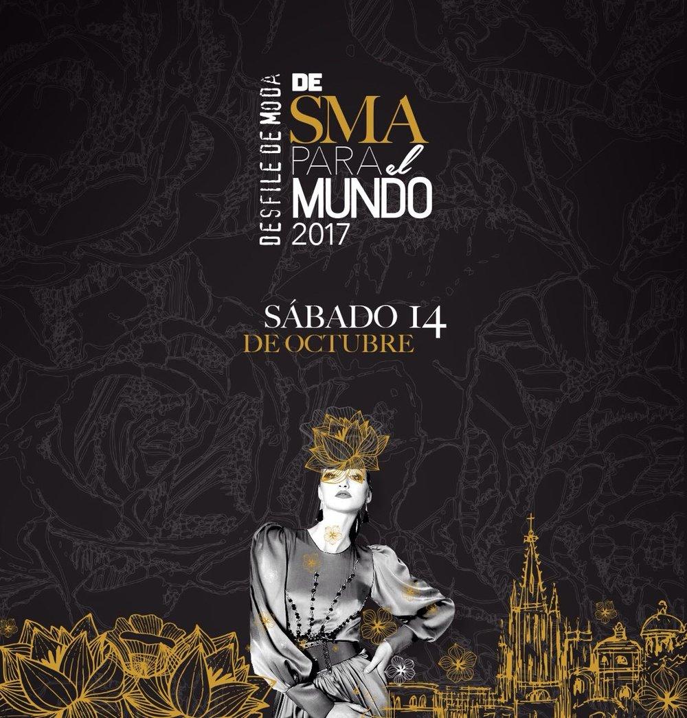 Oct 14th, 2017: De SMA para el Mundo.San Miguel de Allende, Mexico. - A unique fashion event that seeks to show San Miguel de Allende to the world through fashion.