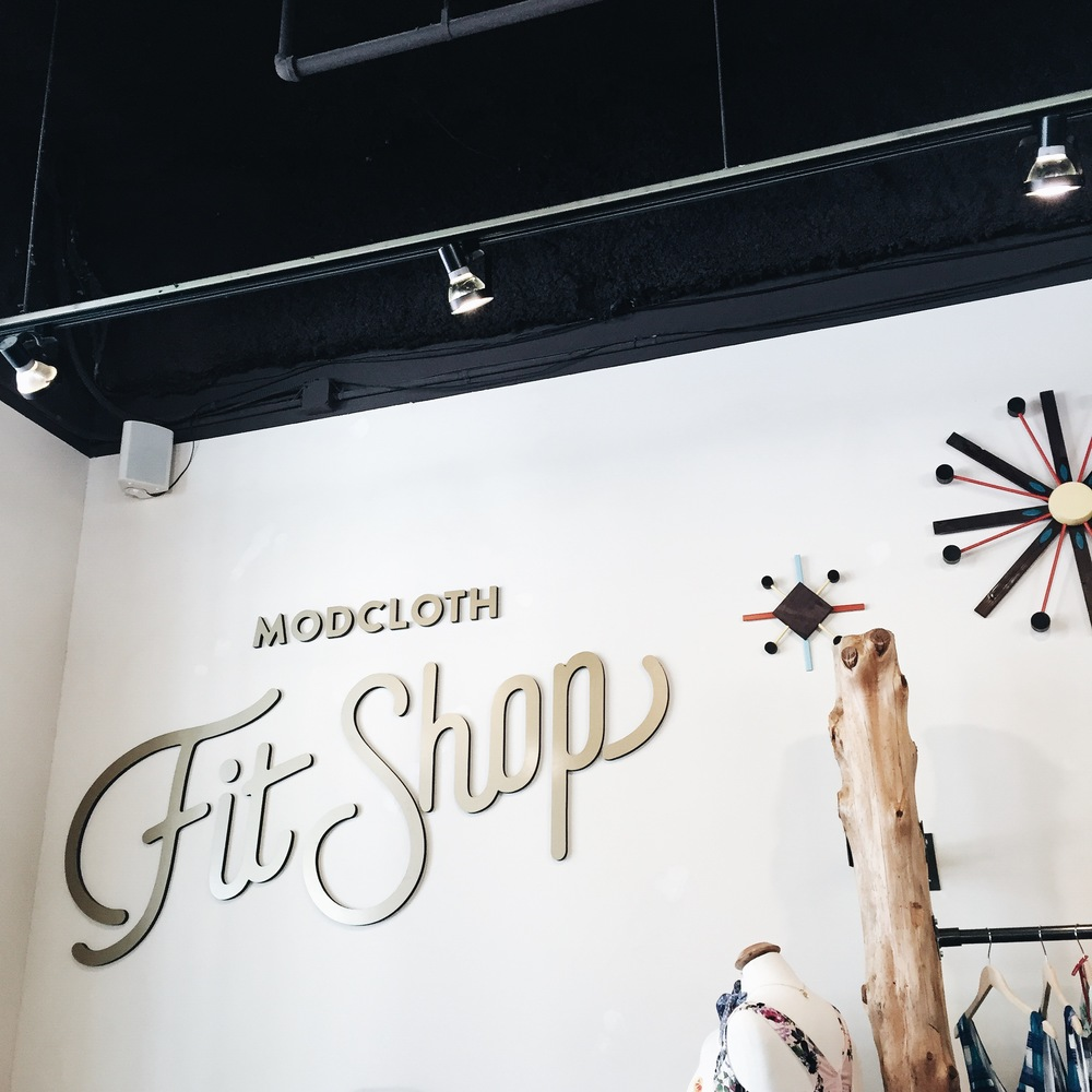ModCloth pop-up shop?! A dream come true after only shop them online.