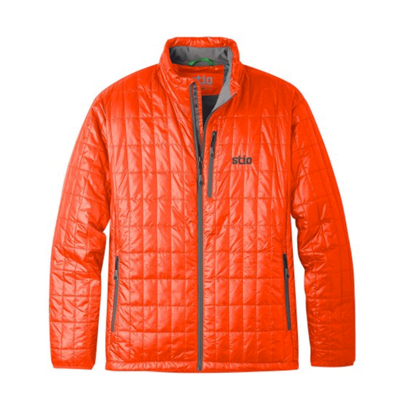 Stio M's Azura Insulated Jacket A mid-layer you actually want to be seen in off the slopes that is as functional as it is stylish. Features super warm 60G Primaloft Gold Insulation and a DWR finish to repel rain and snow. $195, Stio