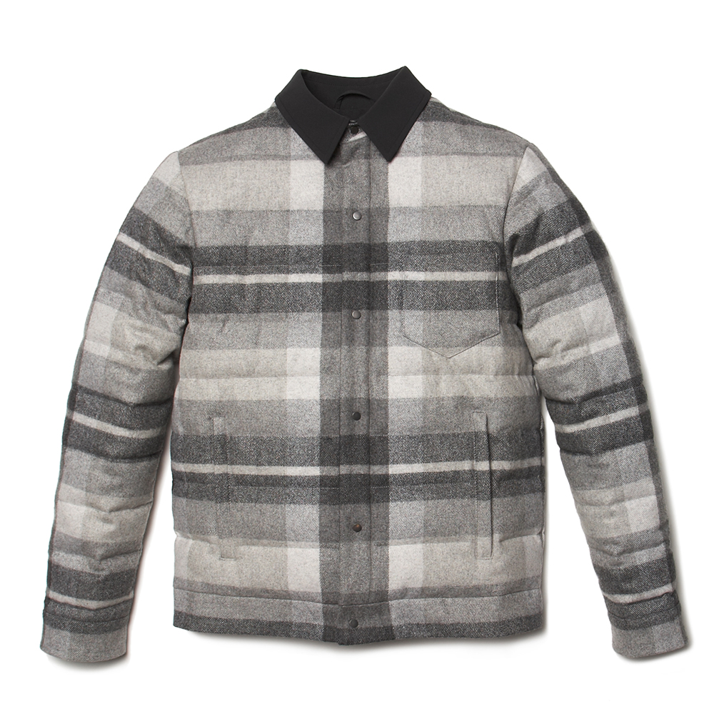 CARIBOU CLUB JACKET IN CHARCOAL PLAID $1350USD