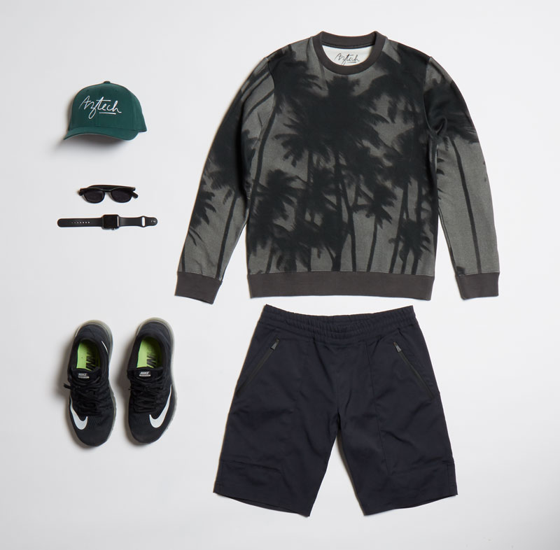PALMDAZE SWEATSHIRT w/ LOST MAN HIKE SHORT $295US