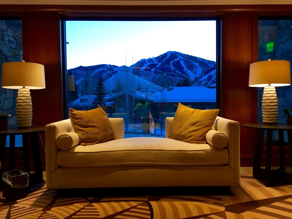 After laps on Baldy, watch the sun set over the mountain from The Spa at Sun Valley.