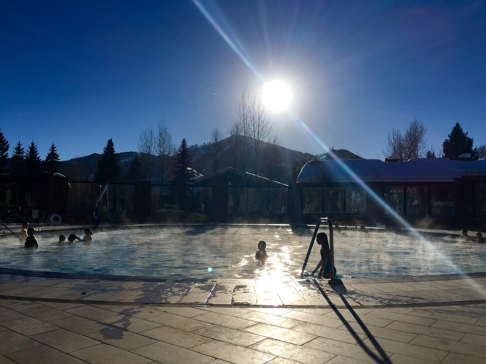 Sun Valley's classic circular pool is expanded and adds a steamy hot tub.