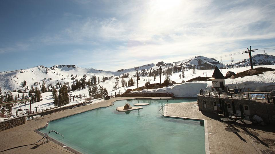 Hit Squaw Valley for spring pow followed by a swim at High Camp.