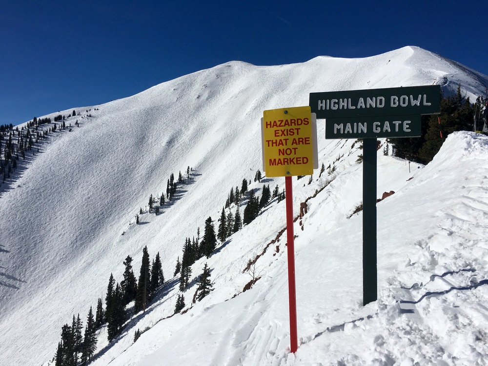 Hike up Aspen Highlands Bowl (12,392 feet) to earn some big spring turns.