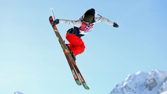 Breckenridge Pro Team Skier Keri Herman gets big Olympic air.