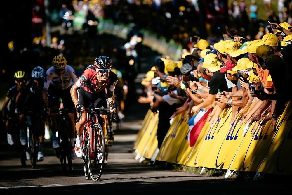 @richie_porte dashes his way through the 2017 Tour de France @letourdefrance