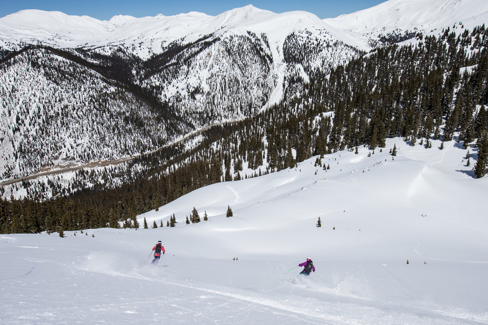 Skiing the new Arapahoe Basin terrain in The Beavers Photo by Dave Camara courtesy of Arapahoe Basin Ski Area