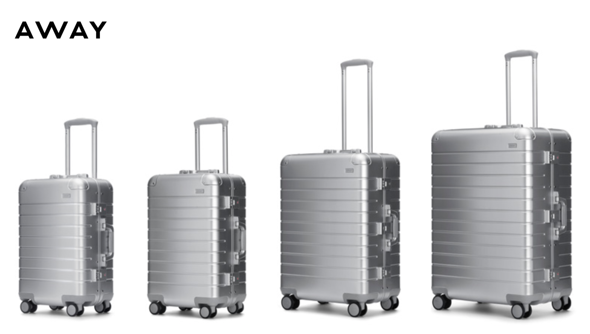 19913bb24 Away Just Released The Aluminum Edition Suitcases — Mr. Luxury Ski