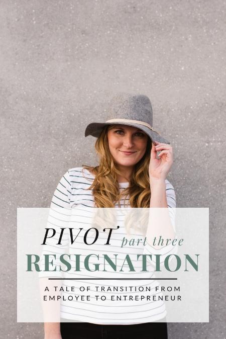 PIVOT: Resignation by Christine Barnes