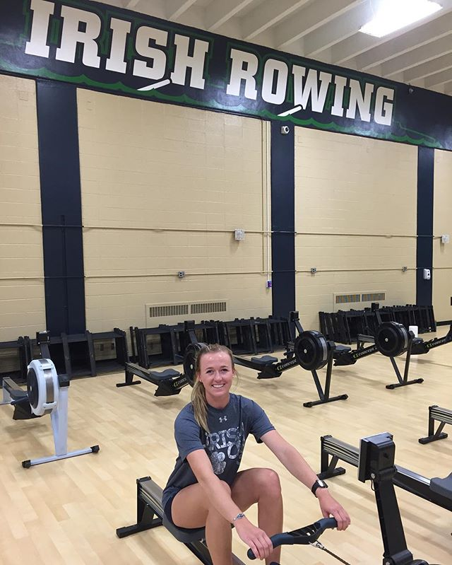 Get to know Courtney Sampson, senior Irish rower and the oldest of 10 kids  Q: Do you have a favorite sibling? A: No, I don't have a favorite but some are my least favorite depending on the day. Being one of 10 children has totally shaped who I am and I wouldn't change anything… although, sometimes it's pure chaos. With the 10 of us, it's almost impossible for our family to complete a goal in a day. Ninety percent of our plans usually experience a 180 degree flip so I've grown up expecting change and things not going as planned which I think has impactedd my attitude and reaction to everything which especially has helped me adapt to being a student-athlete here at Notre Dame. I believe that everything will always work out. I guess it's my best and worst quality — I have a positive attitude and can be enthusiastic to do things but at the same time, I've had to learn how to set concrete goals and plan because I'm so used to going with the flow. Overall, I learn way more from my siblings than I think they learn from me. There are so many different personalities in my home and it's really cool to have that experience of interacting with different personalities and watching them grow up.The craziest thing about being the oldest of 10 kids is that my youngest brother is 3 and 1/2 years old right now… I will be 35 when he graduates from high school!
