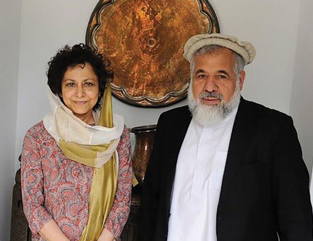 Irene Khan, IDLO's DG, meets Afghan Justice Minister Abdul Basir Anwar