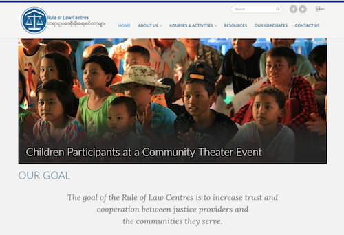 Rule of Law Centres' website:      www.rolcmyanmar.org