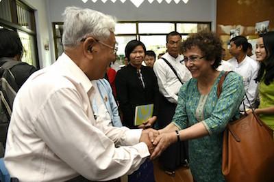 IDLO D-G Irene Khan visits Myanmar