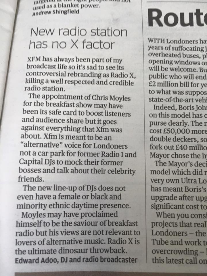 Evening Standard - Radio X - September 2015.jpg