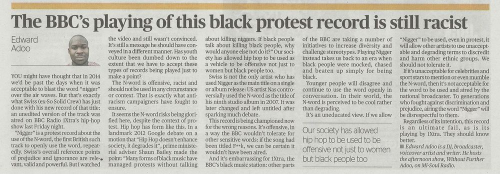 Evening Standard - N Word - November 2014.jpg