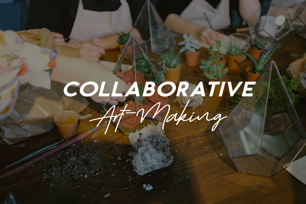 Get us onboard to build team spirit and foster creativity among your community!