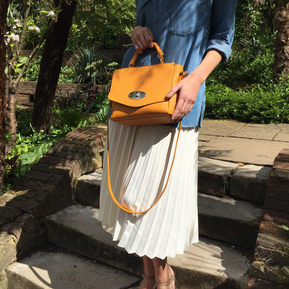 The Coppola bag in saffron.