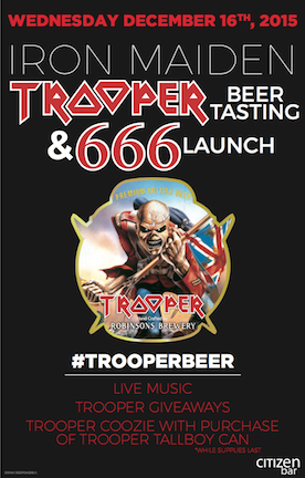 Trooper Event at Citizen Bar Poster