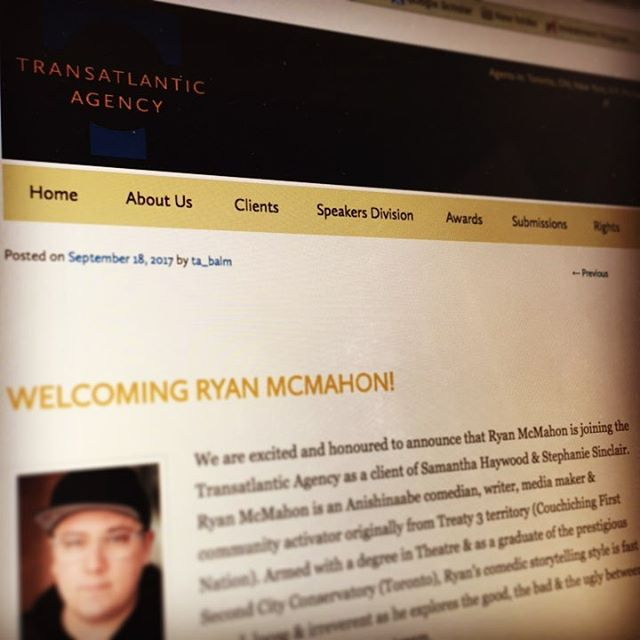 I've officially signed with Transatlantic Agency! My agents, Samantha Haywood and Stephanie Sinclair are representing my literary, film and television writing efforts. We've got an amazing plan & set of goals that make me incredibly happy! The journey continues. #Makoons #IndigenousStoriesEverywhere
