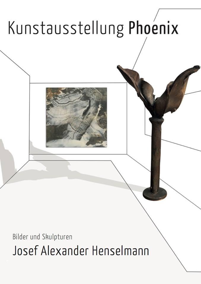 Phoenix - Eine Ausstellung im Münchner Amtsgericht.Bilder und Skulpturen setzen sich mit dem mythischen Vogel auseinander. Der Phoenix als Lebewesen, welches an seinem Lebensende verbrennt und aus seiner Asche neu entsteht, steht metaphorisch für einen Neubeginn.Ein solcher Neubeginn findet auch in den Sälen des Münchner Amtsgerichts statt. Die Bilder und Skupturen auf dem Flur im 1. OG sollen den Menschen deshalb zeigen, dass jedes Urteil - und damit gemeint jedes Ende - gleichzeitig auch ein Neuanfang ist. Aus Asche gemalte Bilder zeigen Phoenixe und Landschaften, mythische Vögel aus Stahl und Blech interagieren mit den Bildern.Amtsgericht MünchenPacellistraße 5  1.OGAusstellung: 20.6. - 20.11.2018Montag bis Donnerstag: 8.00 - 16.00 UhrFreitag: 8.00 - 14.45 Uhr