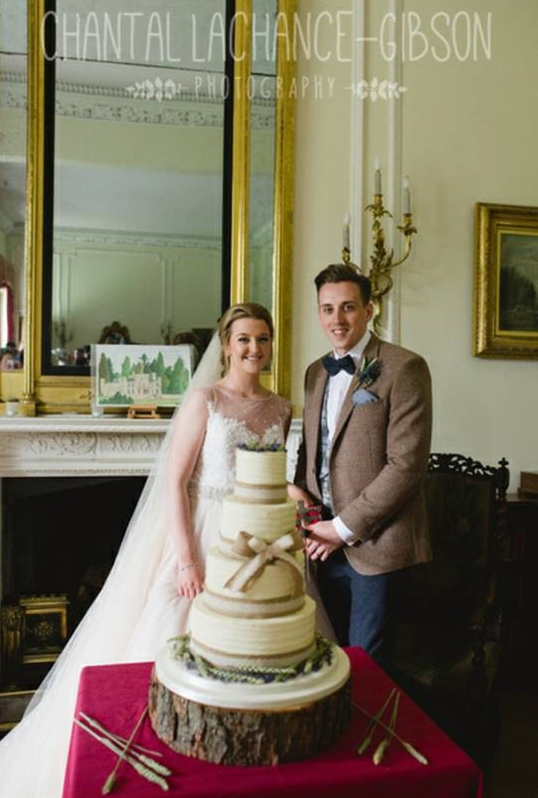 'My husband and I loved our cake ❤ I walked into the room and nearly burst into tears. I couldn't recommend Brogan more. Get her to make you tasty things!'   - Emma & Scott