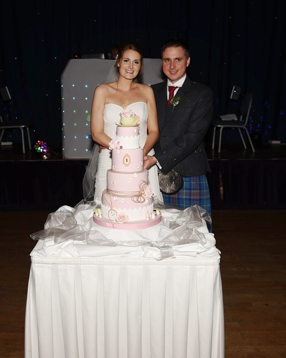 "' Thank you for the hard work you put into the cake. It definitely shows! We both absolutely loved it. Our guests were amazed and we heard a lot of ""this is the best tasting cake. Ever!"" Thank you again!'   - Gemma & Brian"