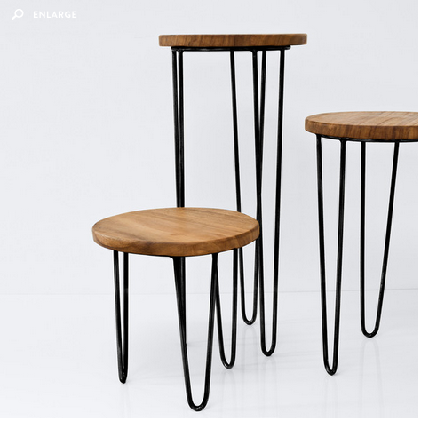 ALDAMA SIDE TABLES  (in black)