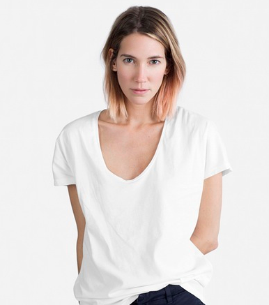 Everlane U-Neck T (I have three and still wish I had more)