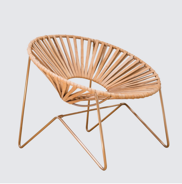The Citizenry: aldama chair in copper/natural