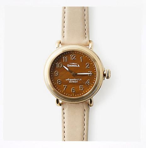 Shinola: Women's Runwell Coin Edge 38mm Watch