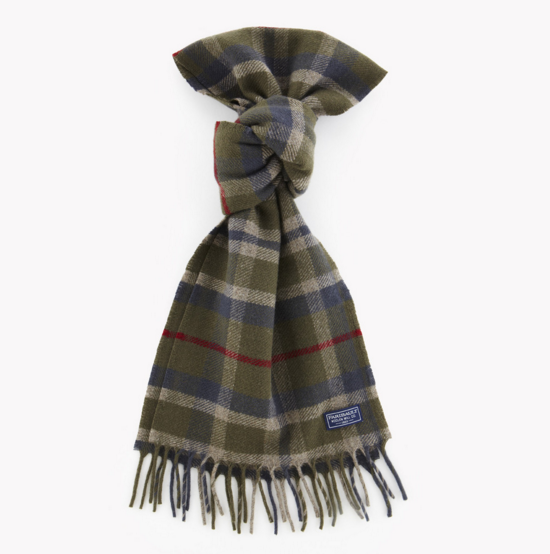 Faribault: Hatchet plaid wool scarf