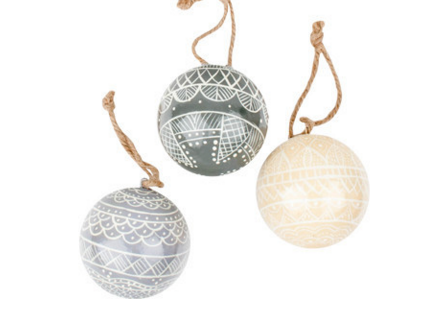 Canvas Home: First Snowflake Ball Ornaments
