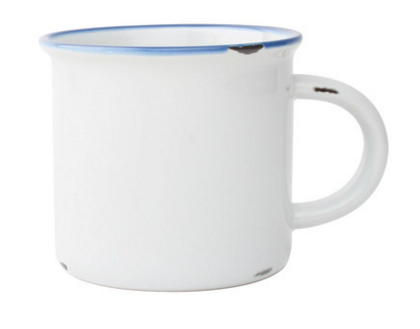 Canvas Home: Tinware Mug in white