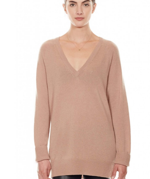 Equipment asher v-neck in camel