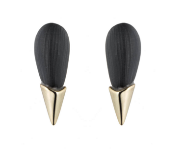 Alexis Bittar gold capped spike stud