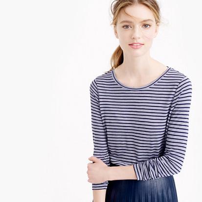 Jcrew: drapey long sleeved striped tee