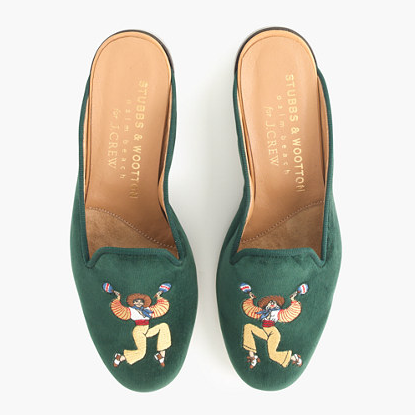 STUBBS & WOOTTON for Jcrew: velvet mules