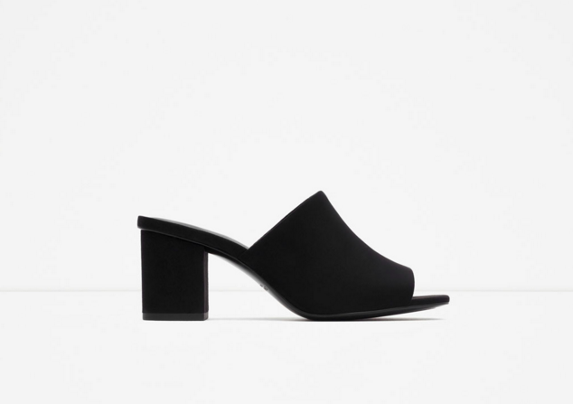 Zara: High-hell backless sandal