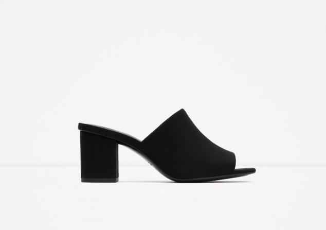 Zara: High-hell backless sandal