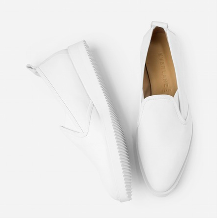 EVERLANE: Nubuck Street Shoe in white