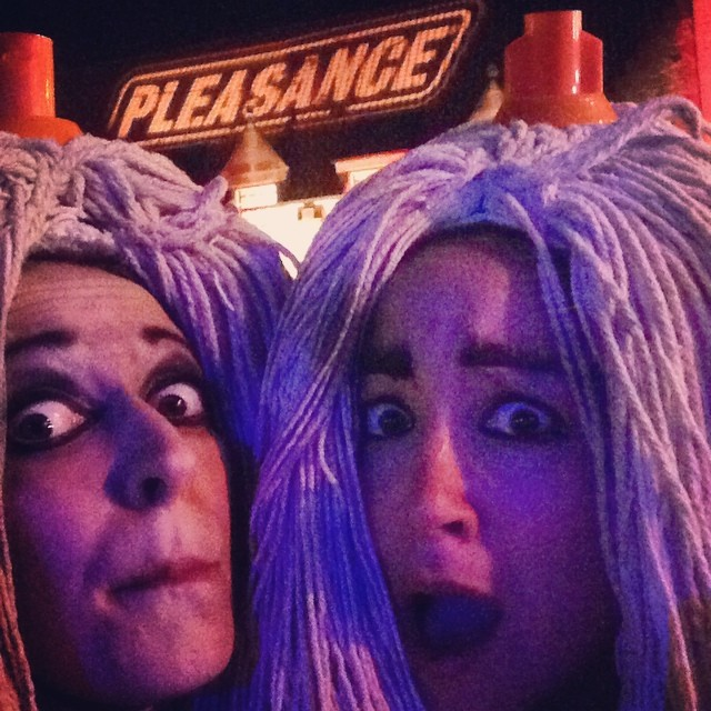 And that's a WRAP on #edfringe2016! Massive sloppy mop-covered thanks to everyone who has made this ridiculous, hilarious, exhausting and wonderful season happen - the all-conquering @deadmanlabel and the fam at large, @thepleasance and all who sail in her, our gorgeous, glamorous flyer hotties @annieharrisactor @paigephillips6 @safshar1 ❤️ AND all you beautiful folk who have come along and played with us! And now: all of the prosecco. Soaked deep into the mops. Let's dance. #edfringe #done #spottheyeti #mopstothefloor #pleasancecourtyard #bedtime