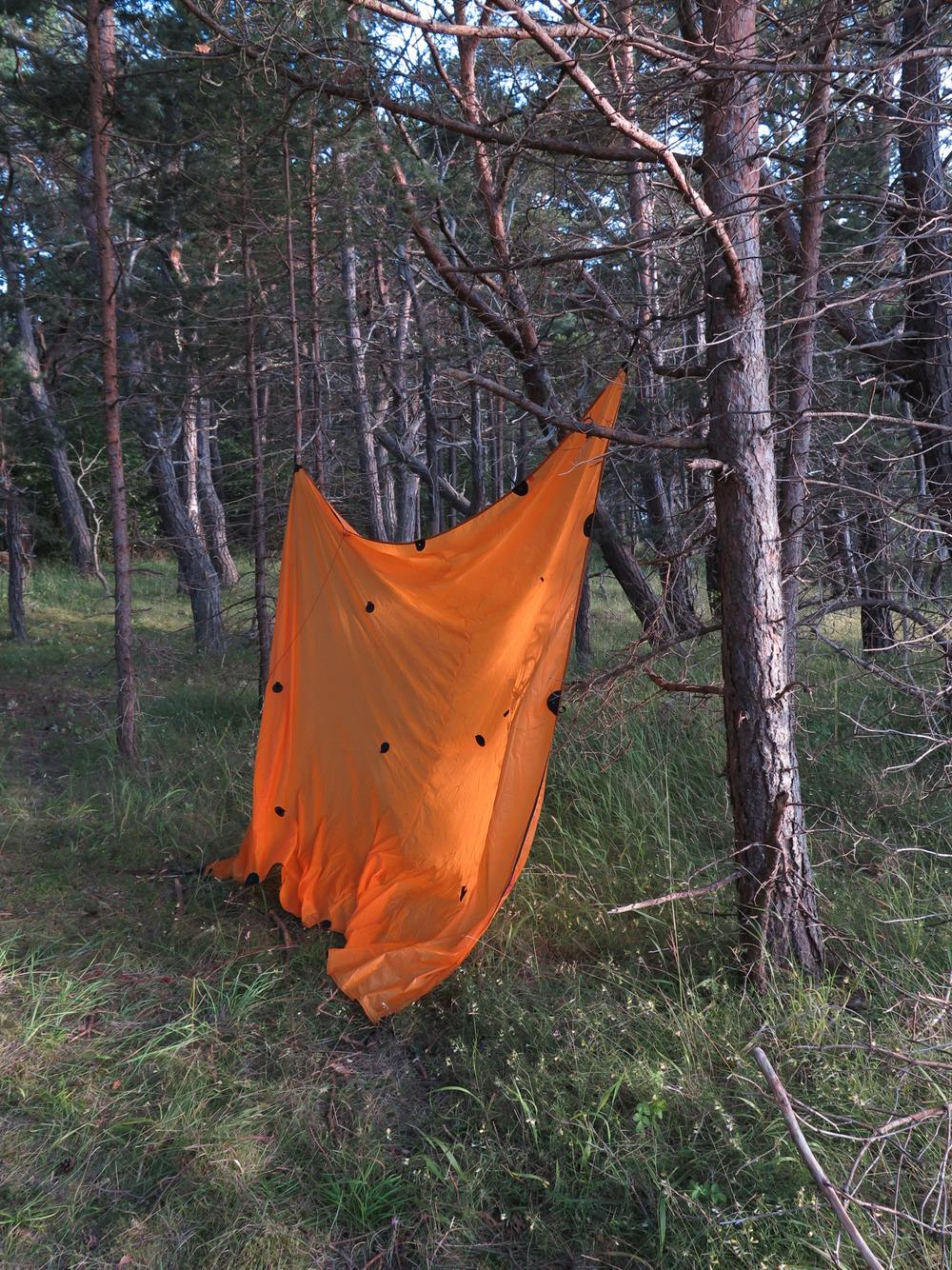 covert camping tarp.