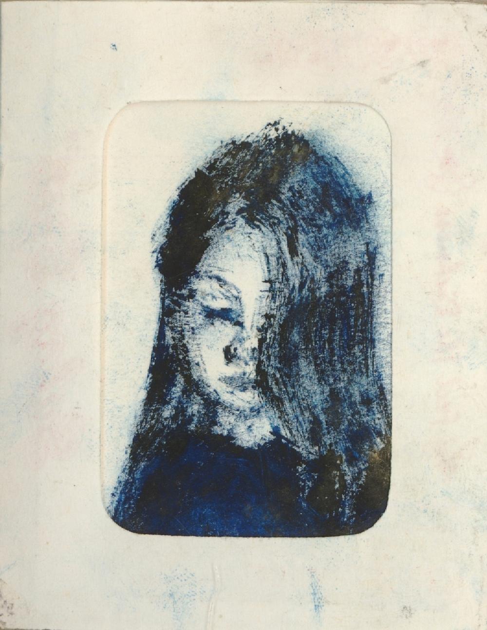 Old blue girl