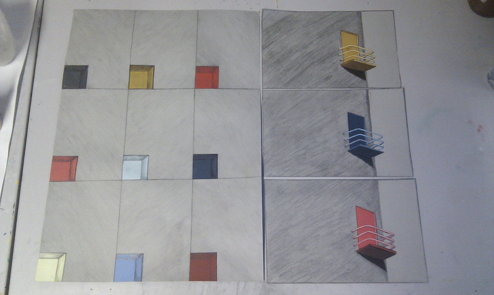 Tile project progress.